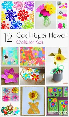 12 Cool Paper Flower Crafts for Kids- Perfect for spring and Mother's Day!