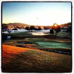 Chilly San Diego morning on the @La Costa Resort and Spa golf course