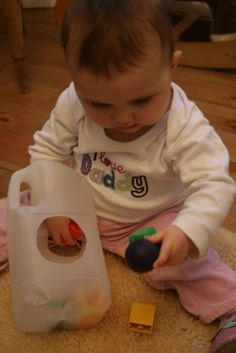 Activity for 7 month old The Imagination Tree: Baby Play: Dropping and Posting