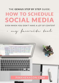 How to schedule social media even when you don't have a lot of content to use + my favorite tool that makes social campaigning easy!