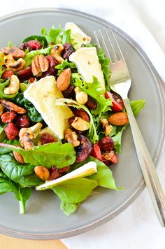 Scandi Home: Cherry and Camembert Salad