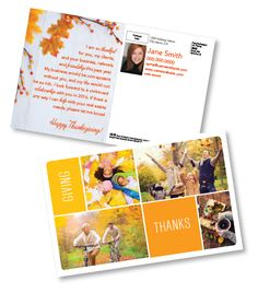 """""""Give Thanks"""" from the 2015 Thanksgiving Card collection from One Step Services. #directmail #hoildaymarketing #realestate #thanksgivingcards"""