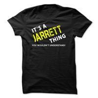 It is a JARRETT Thing Tee