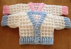 New knitting patterns free baby cardigan newborns sweaters ideas Preemie Crochet, Crochet Bebe, Newborn Crochet, Crochet For Boys, Free Crochet, Ravelry Crochet, Crochet Baby Cardigan Free Pattern, Crochet Baby Jacket, Crochet Baby Clothes