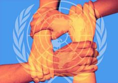 Marcus- This is an image of using constrained visual language. In this image you can see that there is a UN logo on those hands and those hands normally means teamwork while those hands are hold each other. Besides, you can also see that there is different skin tone on those hands which means different people from countries. This image just shows what UN is trying to do .
