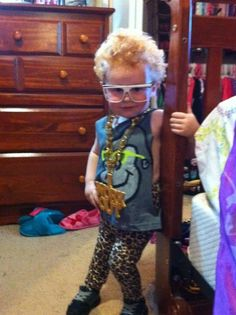 A-DOR-A-BLE LMFAO kid costume