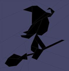 (7) Имя: 'Лоскутное: Ведьма на метле