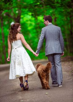 Love the bride and groom's style in this too. Your dog is always fun to have in a few shots #wedding dog