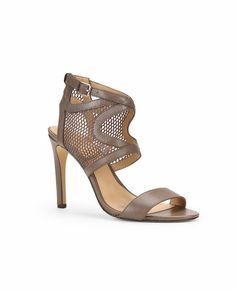 Mesh and Leather Cutout Sandals -- add a bit of edge to any look. Go with anything. #springsandals #meshshoes