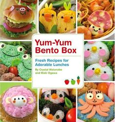 """Yum-Yum Bento Box Cookbook /// Listening to Splendid Table and the women being interviewed said on his first day of school in Japan, her son went with PB & J and came home crying and said, """"My lunch isn't cute."""" I love the idea of sending you kid to school with a Bento box every day. Sounds like a big time commitment though."""