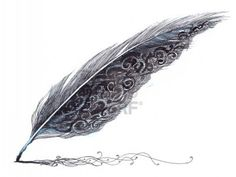 I love this quill! Would make a great tattoo idea for a writer.