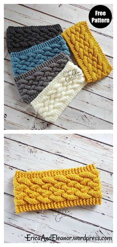 Cable Headband Free Knitting Pattern #freeknittingpattern #headbandpattern #earwarmer #cablepattern