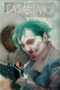 Joker / Ingrid Bergman LIPS Pinup Artist Esad Ribic - W.B.