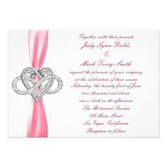 Pink Infinity Heart Wedding Invitation  Personalize this invitation to make it your own. Change font style, color and size as well as background color and paper type by using the customize it button. http://www.zazzle.com/pink_infinity_heart_wedding_invitation-161781960399400361?rf=238271513374472230  #wedding