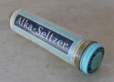 ALKA SELTZER came in a glass bottle in the 60s. RETRO RELIEF!