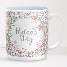 Personalised Mug Little Mouse Design Featuring the sweetest friendly little mouse, the soft pastel colours will make this mug a firm favourite for their daily cuppa! £12.95