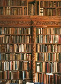 "bibliofila:  Nicolas Barker's library. Source: ""At Home with Books""."