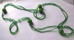 collana di perline rocailles verdi cristalli di LecreazionidiVicky, €6.00