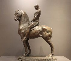Cavalier I - Bronze- Christophe Charbonnel. Sculpture Projects, Horse Sculpture, Abstract Sculpture, Bronze Sculpture, Animal Statues, Animal Sculptures, Traditional Sculptures, Horse Anatomy, Examples Of Art