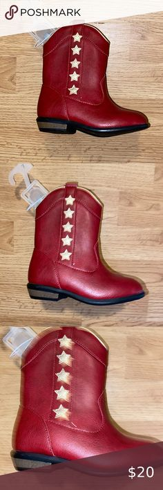 Wonder Nation Cowboy Cowgirl tall Western boots size 1 girls boys youth new