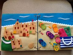 Love the sandcastle and color matching flip flops!