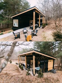 30 Shipping Container House Ideas & Plans – Tiny House Diary Modern Tiny House, Tiny House Living, Tiny House Plans, Building A Container Home, Container Houses, Cool Sheds, Maximize Small Space, Shipping Container House Plans, Summer Kitchen
