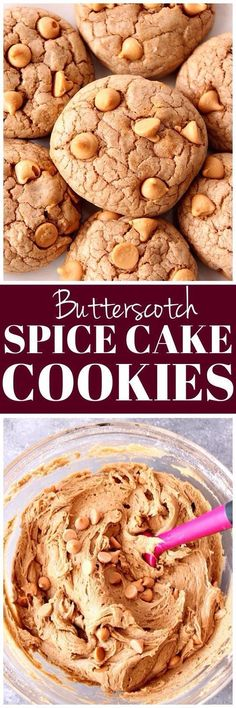 Spice Cake Butterscotch Cookies Recipe - easy and soft cookies that taste like spice cake! Only 4 ingredients needed to make these!
