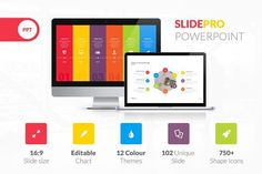 SlidePro Powerpoint Presentation by vuuuds on @creativemarket