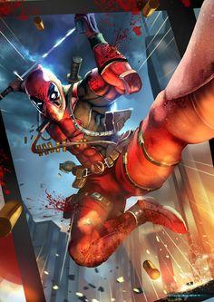 #Deadpool #Fan #Art. (Deadpool) By: Pedro Sena. (THE * 5 * STÅR * ÅWARD * OF: * AW YEAH, IT'S MAJOR ÅWESOMENESS!!!™)[THANK U 4 PINNING!!!<·><]<©>ÅÅÅ+(OB4E)