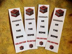 Minecraft Valentine Bookmarks Creeper by MinecraftPartySolved