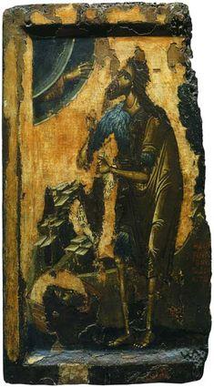 St John The Baptist . Byzantine Icons, Byzantine Art, Greek Icons, Russian Icons, Classic Paintings, John The Baptist, Religious Icons, Orthodox Icons, Renaissance