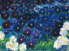 The Blue Flowers by Emile Nolde, 1908.