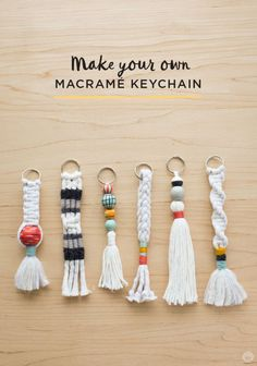 Free instructions: DIY Tassel and Macramé keychains - Think.Make.Share.