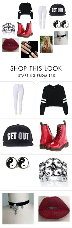 """""""Exo dance cover"""" by deerodri ❤ liked on Polyvore featuring Dr. Martens, Palm Beach Jewelry and Exorocks"""