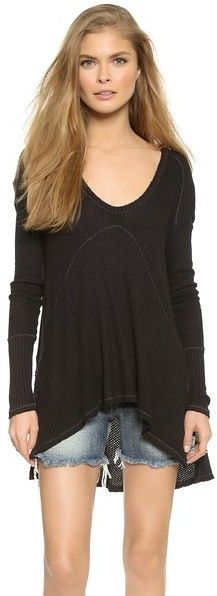 f7cd28073c02 Free People Drippy Thermal Sunset Park Top • Free People •  68 Free People  Thermal