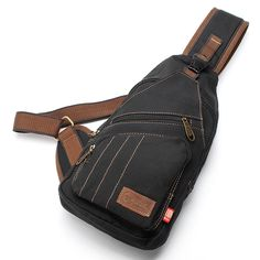 Men Canvas Travel Hiking Crossbody Bag Casual Chest Bag is worth buying - NewChic