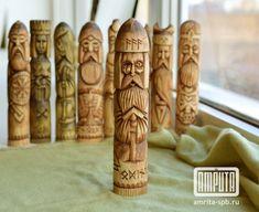Odin God Wooden Linden Statue. Odin Protection Scandinavian Viking Talisman. Handmade Wood carving.