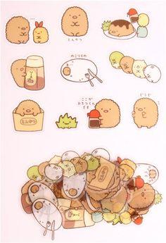 Sumikkogurashi Tonkatsu cutlet sticker sack San-X 3 Tonkatsu, Modes4u, Kawaii Stickers, Kawaii Wallpaper, Line Sticker, I Love Anime, Transparent Stickers, Different Patterns, Pattern Art