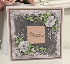 Tattered Lace Cards, Lace Design, Card Making, Greeting Cards, Invitations, Frame, Floral, Party, How To Make