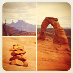 Moab, Utah on a day hike with the family to Delicate Arch.