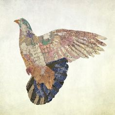 New York Pigeon made with maps