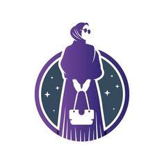 Anime Muslim, Muslim Hijab, Hijab Logo, Tailor Logo, Logo Boutique, Dress Logo, Free Logo Templates, Learning Logo, Anime Pixel Art