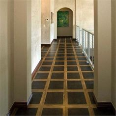 Leather floor tiles.    Contemporary Specialty Flooring from EcoDomo, Model: Lancaster Parquet Floors
