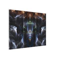 The Time Portal Fractal Art 3 Panel Canvas Print $504.00