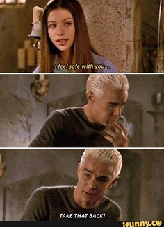 Buffy The Vampire Slayer. I love Spike! He was written so well! Joss is really just so good! Best Tv Shows, Favorite Tv Shows, Buffy The Vampire Slayer Funny, Spike Buffy, Buffy Summers, Roman, Joss Whedon, American Horror Story, Our Lady