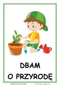 BLOG EDUKACYJNY DLA DZIECI: Kodeks przedszkolaka Paper Art, Kindergarten, Arts And Crafts, Bunny, Logo Design, Classroom, Stickers, Education, Class Room