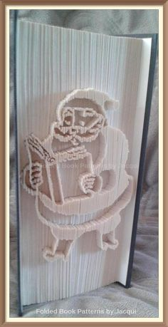 Santa Reading Cut and Fold Book Folding PATTERN