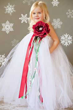 Flower Girl Tutu Dress in Christmas Luxe by TheLittlePeaBoutique, $83.00