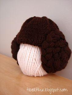 Princess Leia Hat #pattern #knitting #free
