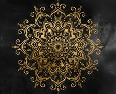 Black and Faux Gold Tapestry Art Print